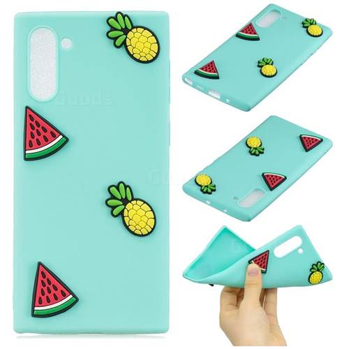 Watermelon Pineapple Soft 3D Silicone Case for Samsung Galaxy Note 10 (6.28 inch)