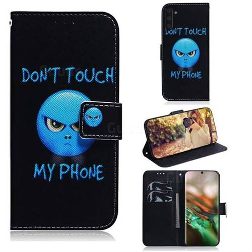 Not Touch My Phone PU Leather Wallet Case for Samsung Galaxy Note 10 (6.28 inch) / Note10 5G