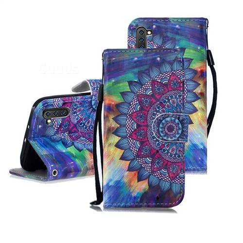 Oil Painting Mandala 3D Painted Leather Wallet Phone Case for Samsung Galaxy Note 10 (6.28 inch) / Note10 5G