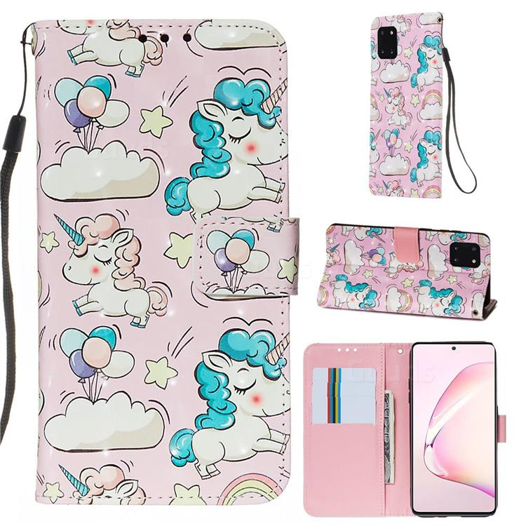 Angel Pony 3D Painted Leather Wallet Case for Samsung Galaxy Note 10 Lite