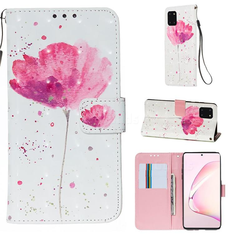 Watercolor 3D Painted Leather Wallet Case for Samsung Galaxy Note 10 Lite