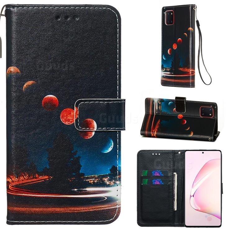 Wandering Earth Matte Leather Wallet Phone Case for Samsung Galaxy Note 10 Lite