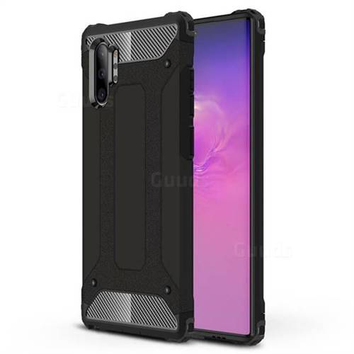 King Kong Armor Premium Shockproof Dual Layer Rugged Hard Cover for Samsung Galaxy Note 10+ (6.75 inch) / Note10 Plus - Black Gold