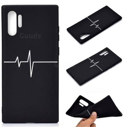 Electrocardiogram Chalk Drawing Matte Black TPU Phone Cover for Samsung Galaxy Note 10+ (6.75 inch) / Note10 Plus