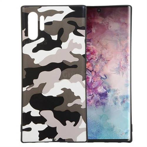 Camouflage Soft TPU Back Cover for Samsung Galaxy Note 10+ (6.75 inch) / Note10 Plus - Black White