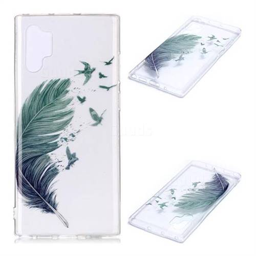 Bird Feathers Super Clear Soft TPU Back Cover for Samsung Galaxy Note 10+ (6.75 inch) / Note10 Plus