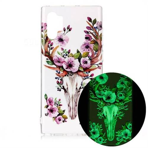 Sika Deer Noctilucent Soft TPU Back Cover for Samsung Galaxy Note 10+ (6.75 inch) / Note10 Plus
