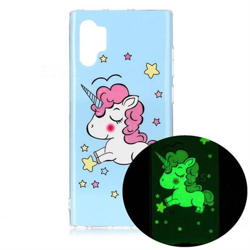Stars Unicorn Noctilucent Soft TPU Back Cover for Samsung Galaxy Note 10+ (6.75 inch) / Note10 Plus