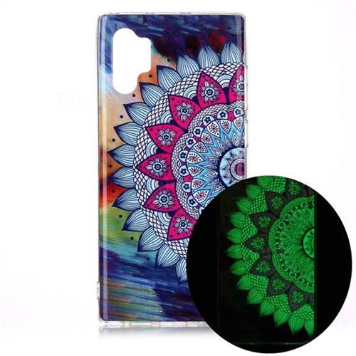 Colorful Sun Flower Noctilucent Soft TPU Back Cover for Samsung Galaxy Note 10+ (6.75 inch) / Note10 Plus