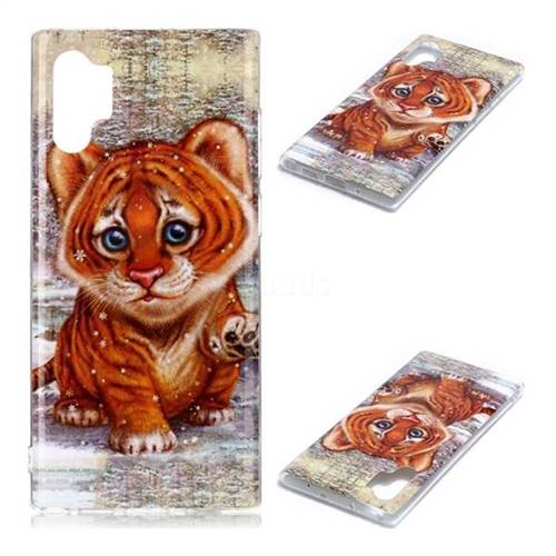 Cute Tiger Baby Soft TPU Cell Phone Back Cover for Samsung Galaxy Note 10+ (6.75 inch) / Note10 Plus