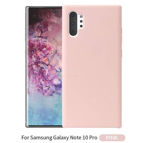 Howmak Slim Liquid Silicone Rubber Shockproof Phone Case Cover for Samsung  Galaxy Note 10 Pro (6 75 inch) / Note 10+ - Pink