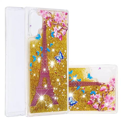 Golden Tower Dynamic Liquid Glitter Quicksand Soft TPU Case for Samsung Galaxy Note 10+ (6.75 inch) / Note10 Plus