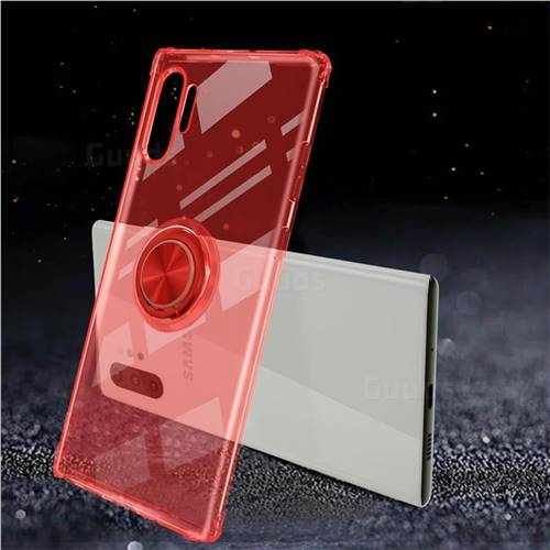 Anti-fall Invisible Press Bounce Ring Holder Phone Cover for Samsung Galaxy Note 10+ (6.75 inch) / Note10 Plus - Noble Red