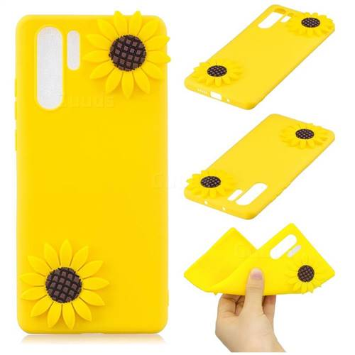 Yellow Sunflower Soft 3D Silicone Case for Samsung Galaxy Note 10+ (6.75 inch) / Note10 Plus