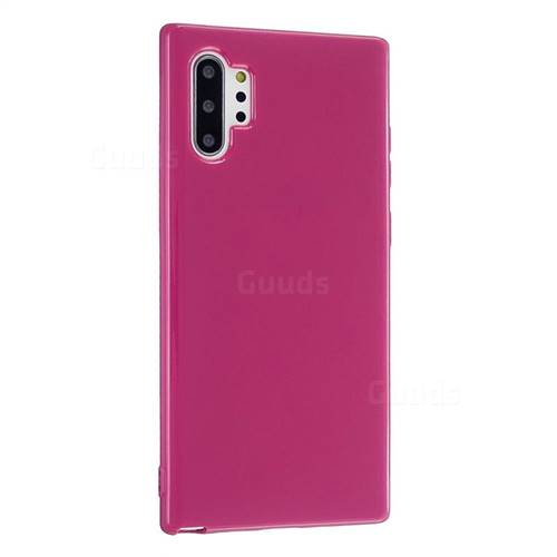 2mm Candy Soft Silicone Phone Case Cover for Samsung Galaxy Note 10 Pro (6.75 inch) / Note 10+ - Rose