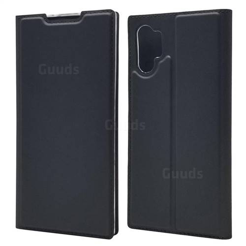 Ultra Slim Card Magnetic Automatic Suction Leather Wallet Case for Samsung Galaxy Note 10+ (6.75 inch) / Note10 Plus - Star Grey