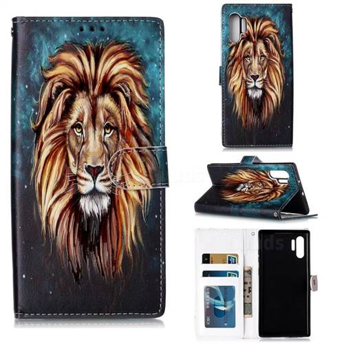 Ice Lion 3D Relief Oil PU Leather Wallet Case for Samsung Galaxy Note 10+ (6.75 inch) / Note10 Plus
