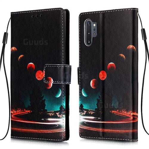 Wandering Earth Matte Leather Wallet Phone Case for Samsung Galaxy Note 10+ (6.75 inch) / Note10 Plus