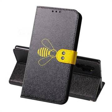 Silk Texture Bee Pattern Leather Phone Case for Samsung Galaxy Note 10+ (6.75 inch) / Note10 Plus - Black