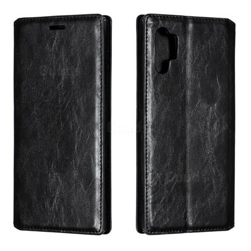 Retro Slim Magnetic Crazy Horse PU Leather Wallet Case for Samsung Galaxy Note 10 Pro (6.75 inch) / Note 10+ - Black