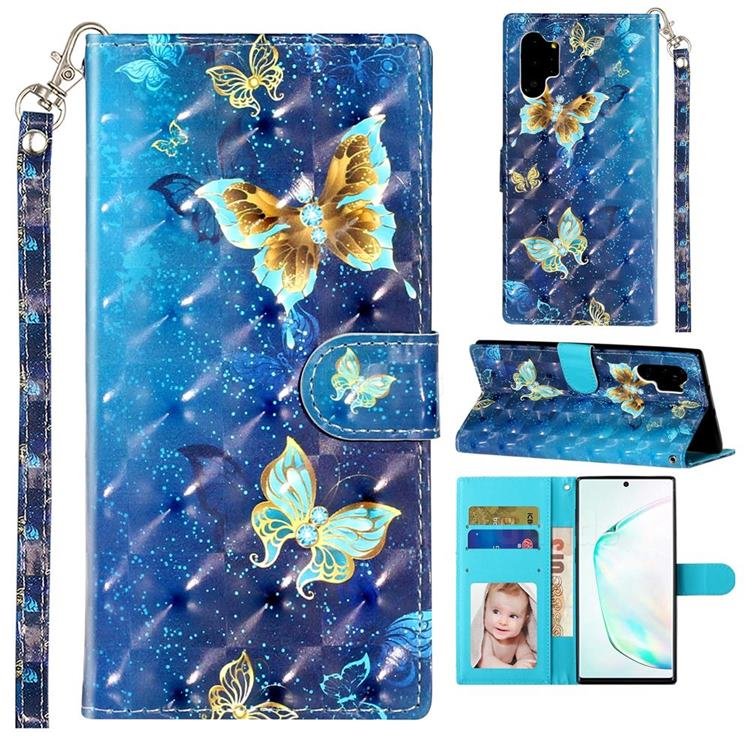 Rankine Butterfly 3D Leather Phone Holster Wallet Case for Samsung Galaxy Note 10 Pro (6.75 inch) / Note 10+