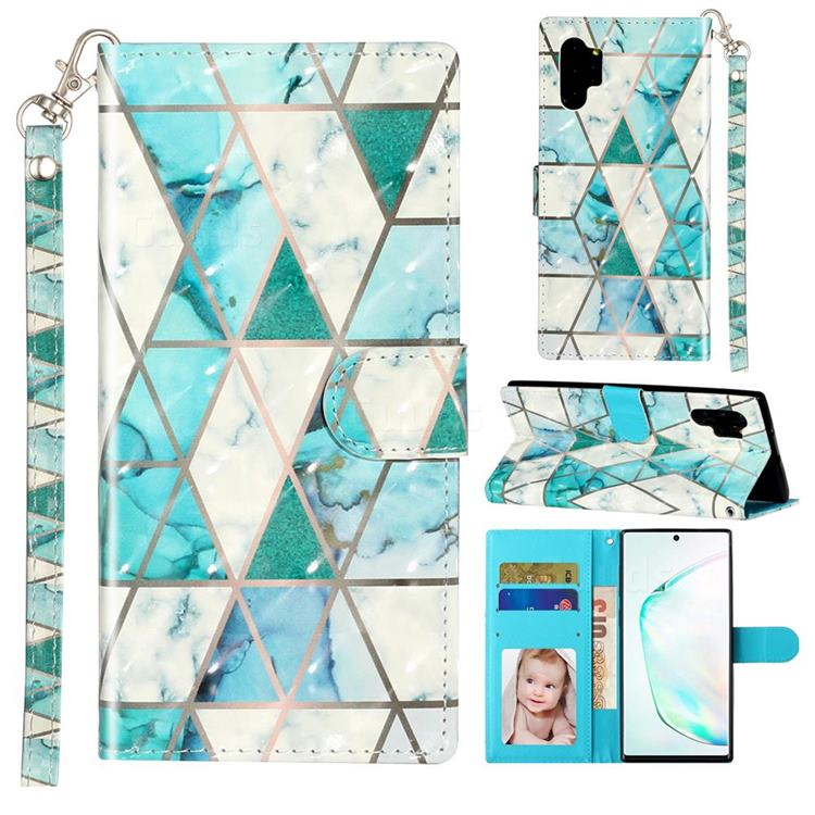 Stitching Marble 3D Leather Phone Holster Wallet Case for Samsung Galaxy Note 10 Pro (6.75 inch) / Note 10+