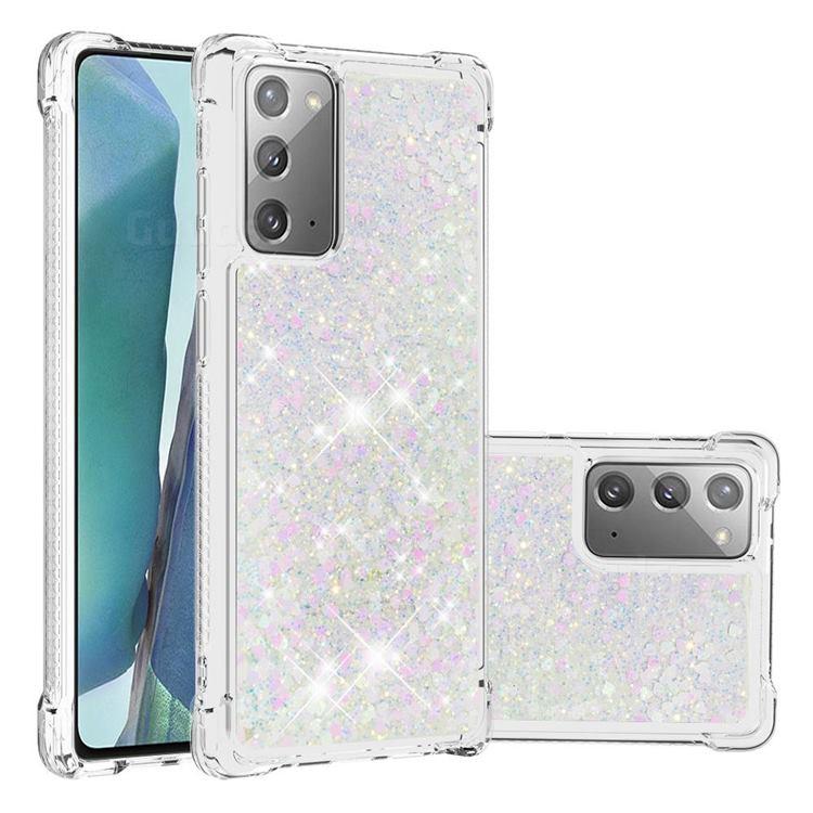 Dynamic Liquid Glitter Sand Quicksand Star TPU Case for Samsung Galaxy Note 20 - Pink