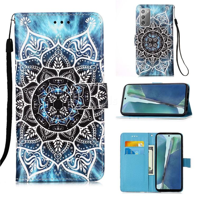 Underwater Mandala Matte Leather Wallet Phone Case for Samsung Galaxy Note 20
