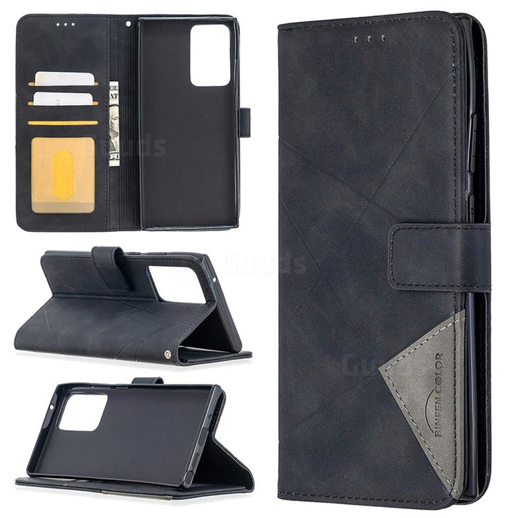 Binfen Color BF05 Prismatic Slim Wallet Flip Cover for Samsung Galaxy Note 20 Ultra - Black