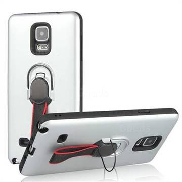 Raytheon Multi-function Ribbon Stand Back Cover for Samsung Galaxy Note 4 - Silver