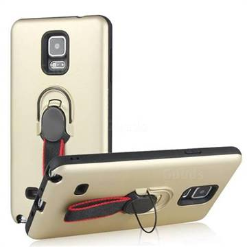 Raytheon Multi-function Ribbon Stand Back Cover for Samsung Galaxy Note 4 - Golden