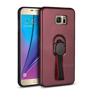 superior quality acf48 721c4 Raytheon Multi-function Ribbon Stand Back Cover for Samsung Galaxy Note 5 -  Wine Red