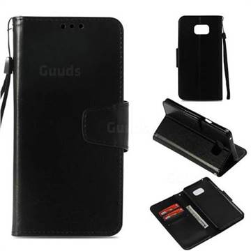 Retro Phantom Smooth PU Leather Wallet Holster Case for Samsung Galaxy Note 5 - Black