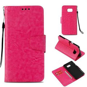 new style 90f9f 5e61e Retro Phantom Smooth PU Leather Wallet Holster Case for Samsung Galaxy Note  5 - Rose