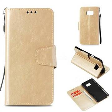 new style 801a8 d69d5 Retro Phantom Smooth PU Leather Wallet Holster Case for Samsung Galaxy Note  5 - Champagne