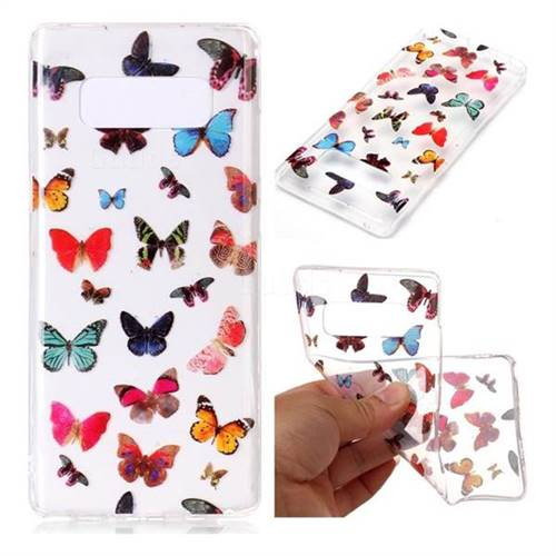 Colorful Butterfly Super Clear Soft TPU Back Cover for Samsung Galaxy Note 8