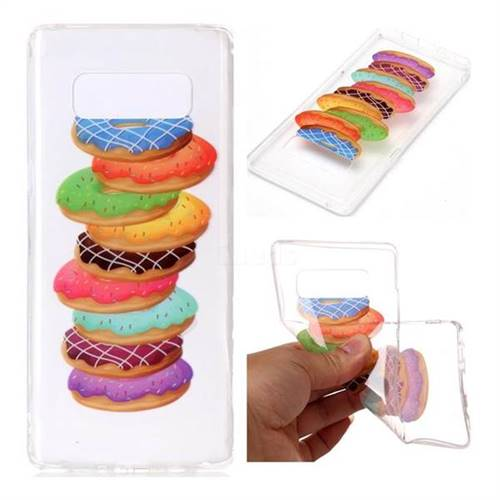 Melaleuca Donuts Super Clear Soft TPU Back Cover for Samsung Galaxy Note 8