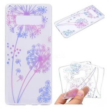 Rainbow Dandelion Super Clear Soft TPU Back Cover for Samsung Galaxy Note 8