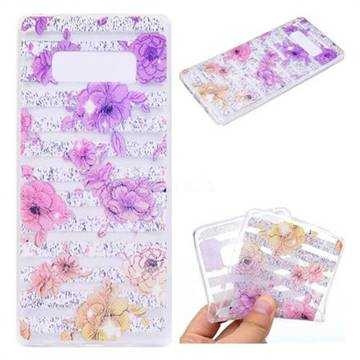 Striped Roses Super Clear Soft TPU Back Cover for Samsung Galaxy Note 8