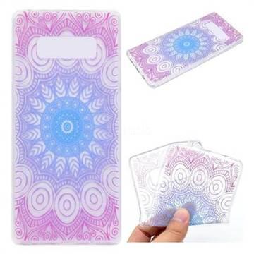 Colored Mandala Super Clear Soft TPU Back Cover for Samsung Galaxy Note 8