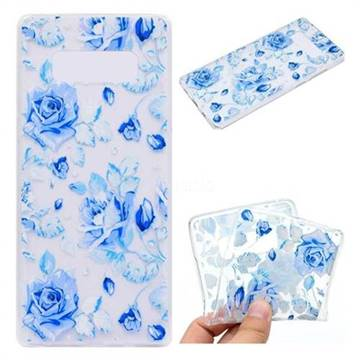 Ice Rose Super Clear Soft TPU Back Cover for Samsung Galaxy Note 8