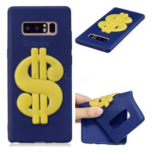 US Dollars Soft 3D Silicone Case for Samsung Galaxy Note 8