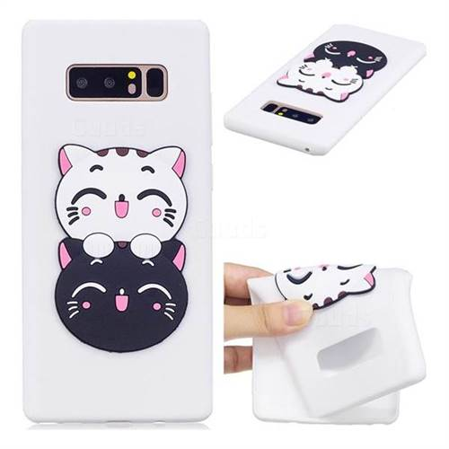 Couple Cats Soft 3D Silicone Case for Samsung Galaxy Note 8