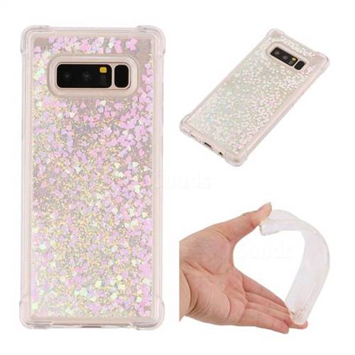 Dynamic Liquid Glitter Sand Quicksand Star TPU Case for Samsung Galaxy Note 8 - Pink