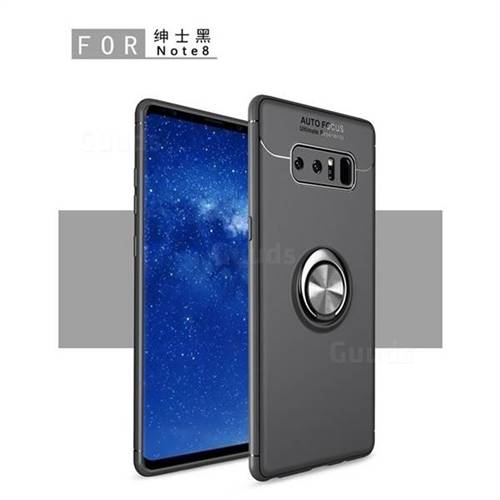 Auto Focus Invisible Ring Holder Soft Phone Case for Samsung Galaxy Note 8 - Black