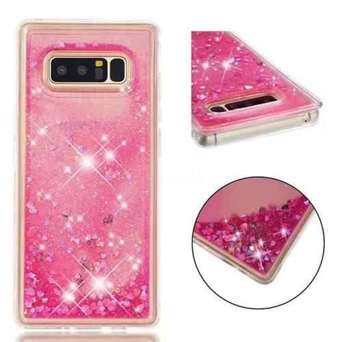 Dynamic Liquid Glitter Quicksand Sequins TPU Phone Case for Samsung Galaxy Note 8 - Rose
