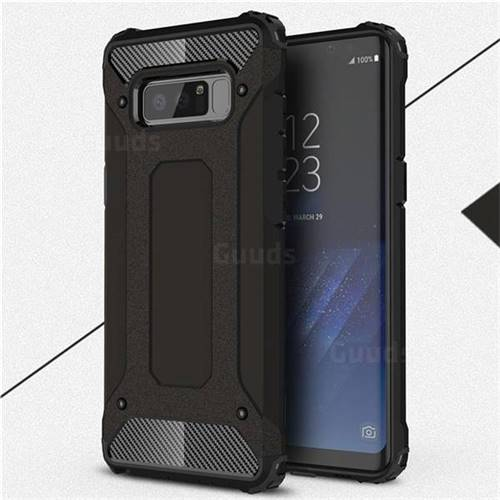 King Kong Armor Premium Shockproof Dual Layer Rugged Hard Cover for Samsung Galaxy Note 8 - Black Gold