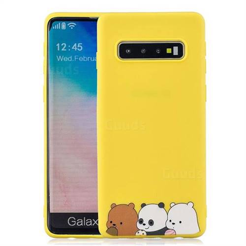 premium selection fb774 aaeed Yellow Bear Family Soft Kiss Candy Hand Strap Silicone Case for Samsung  Galaxy Note 8