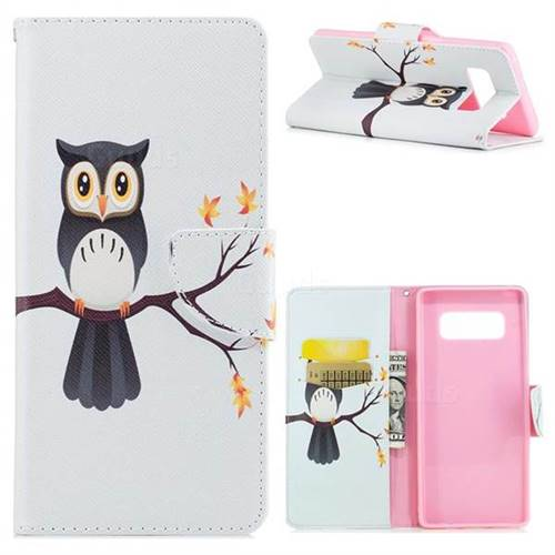 Owl on Tree Leather Wallet Case for Samsung Galaxy Note 8