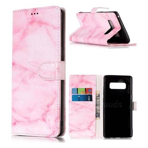 Pink Marble PU Leather Wallet Case for Samsung Galaxy Note 8